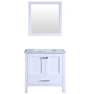 "Totti Shaker 30"" Transitional White Bathroom Vanity"