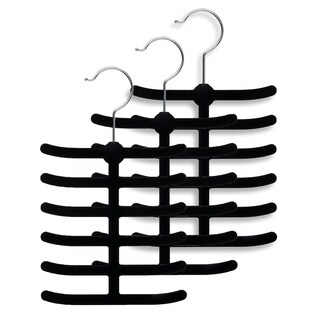 Sweet Home Collection Velvet Tie Hanger Set ( 3 and 6 Packs)