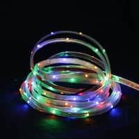 18' Multi-Color LED Indoor/Outdoor Christmas Linear Tape Lighting - White Finish