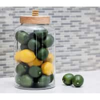 Studio 350 Glass Wood Jar 8 inches wide, 15 inches high