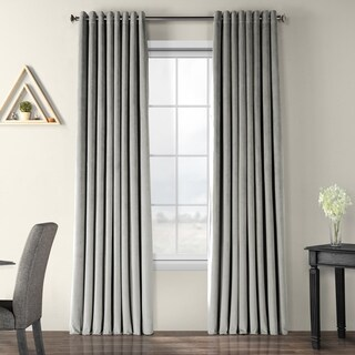 Exclusive Fabrics Signature Velvet Extra Wide Grommet Blackout Curtain