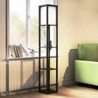 Porch & Den Delano Douglas Floor Lamp Etagere Organizer Storage Shelf