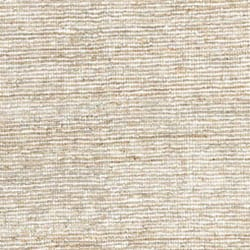 Hand Woven White Leather Hemp Rug 8 X 10 10134435