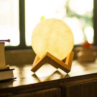 3D Print LED Moon Lamp USB LED Night Light with Touch Sensor Technology