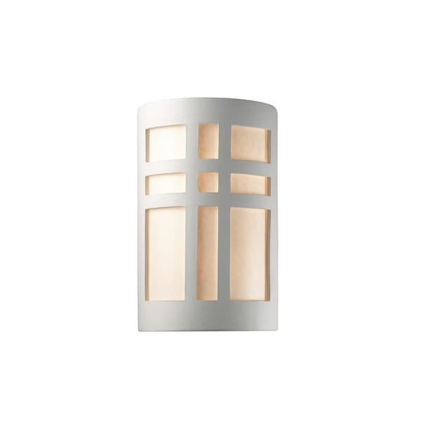 Justice Design Ambiance Bisque 13 inch Outdoor Wall Sconce