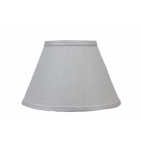 Somette Bone Linen 16 inch Empire Lamp Shade with Washer