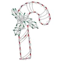 """18"""" LED Lighted Candy Cane Christmas Window Silhouette Decoration"""