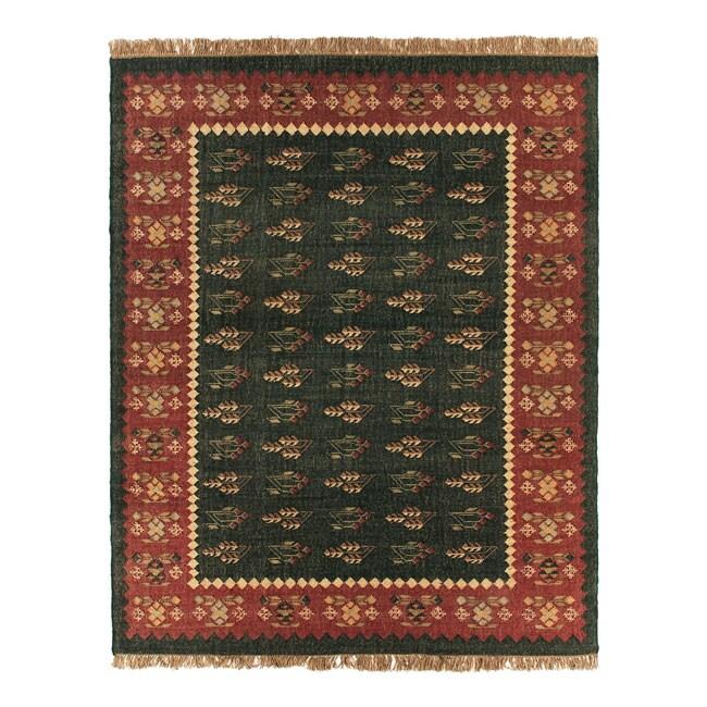Flat Woven Prescott Wool Rug 8 Square 10150444