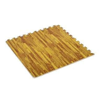 Soozier Interlocking Puzzle Foam Floor Tile Mats - light wood
