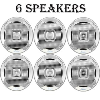 Lanzar 400 Watts 5.25'' 2-Way Marine Speakers (Silver Color) 3 Pairs