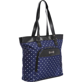 Kenneth Cole Reaction Dot Matrix Polka Dot Printed Top Zip 15.6-inch Laptop Tote Bag
