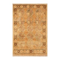 Handmade Herat Oriental Afghan Hand-knotted Vegetable Dye Wool Accent Rug - 1'4 x 2'