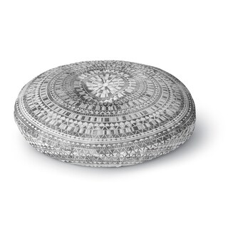 Kavka Designs Mandala Grey Floor Pillow