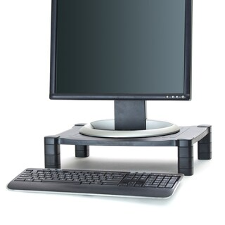 Mind Reader 'Guide' Adjustable Plastic Monitor/Laptop Stand, Black