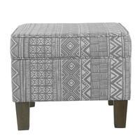 HomePop Medium Decorative Storage Bench - Global Gray