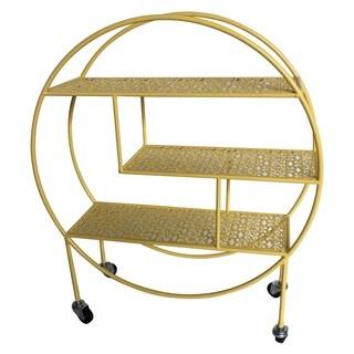 Three Hands Metal Storage Rack W/Wheel