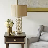 Madison Park Signature Winslow 25-inch Gold Table Lamp with Drum Shade