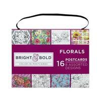 Darice B&B Coloring Postcard 6x8 Florals 16pc