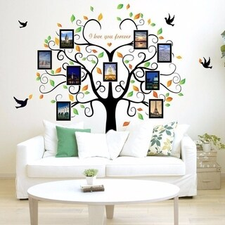 Family Tree Wall Decal 9 Large Photo Pictures Frames 35x12 Wall Vinyl