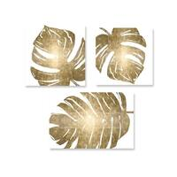 Oliver Gal 'Tropical Gold Set of 3' Canvas Art
