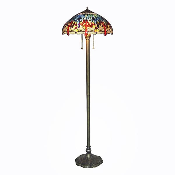 Tiffany Style Blue Dragonfly Floor Lamp 10189208
