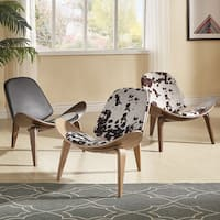 Pascal Mid-Century Faux Leather Shell Chair by iNSPIRE Q Modern
