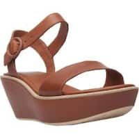 Women's Camper Damas Wedge Sandal Brown Leather
