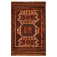 Handmade Herat Oriental Afghan Hand-knotted Tribal Balouchi Wool Rug (Afghanistan) - 2'11 x 4'6