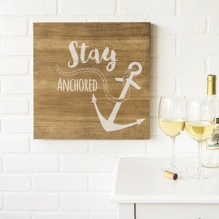 """Anchor 16"""" Rustic Wood Sign"""
