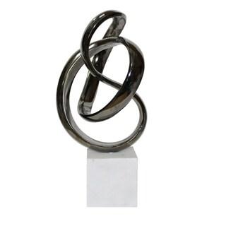 Aurelle Home Unbounded Black Nickel Sculpture