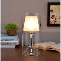 Industrial Hurricane Glass Table Lamp