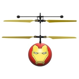 Marvel Avengers Iron Man Yellow/Red Infrared Remote Control UFO Ball Helicopter