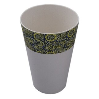 EcoSouLife Bamboo - Printed Cup 16 Oz , Paisley