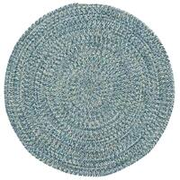 Capel Rugs Sea Glass Blue Round Outdoor Braided Rug - 5'6