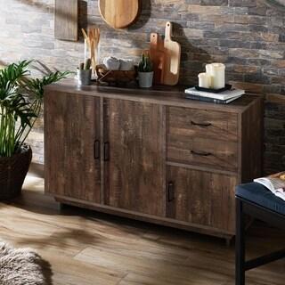 Furniture of America Mailer Brown Reclaimed Oak 47-inch Dining Server