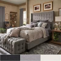 Marion Nailhead Wingback Tufted Tall Headboard Bed by iNSPIRE Q Bold