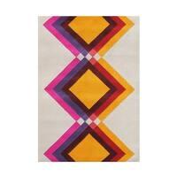 The Alliyah Fabulous Geometric Pentagon 100 Pure Wool Fibers Rug - 5 x 8