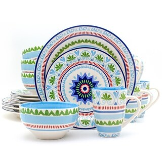 Euro Ceramica Marrakesh 16-piece Dinnerware Set (Service for 4)