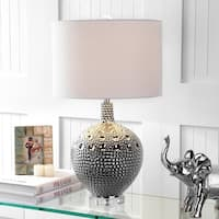 """Andrews 27"""" Ceramic LED Table Lamp, Chrome"""