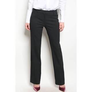 JED Women's Pinstripe Straight Leg Career Pants