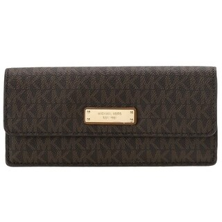 Michael Kors Signature Flat Wallet - Brown - 32F7GF6F2B-200