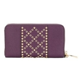 Michael Kors Saffiano Leather Wallet - Purple - 32F7GFDE7U-599
