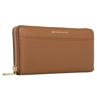 Michael Kors Womens Mercer Zip Around Continental Wallet - Acorn - 32S7GM9E9L-532