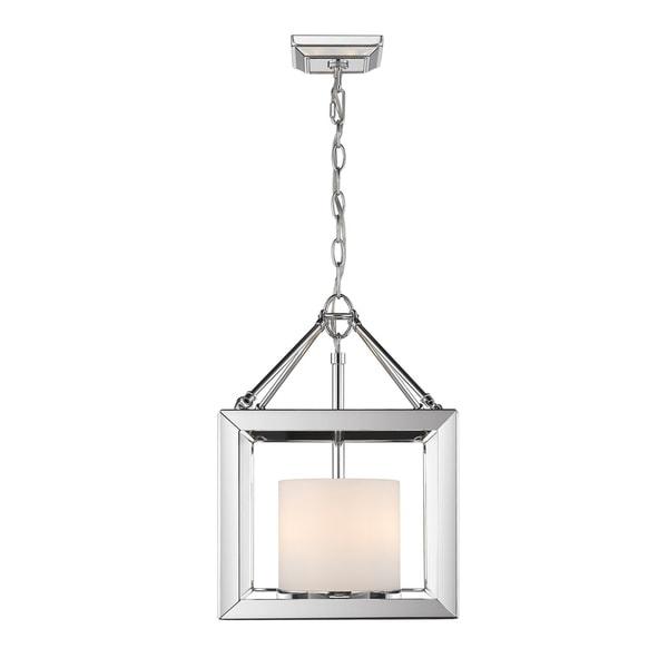 Golden Lighting's Smyth Convertible Semi-Flush (Chrome & Opal glass) #2074-SF CH-OP
