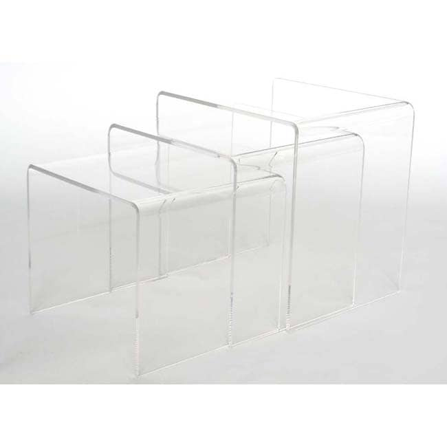 Acrylic Nesting End Tables Set Of 3 10302784