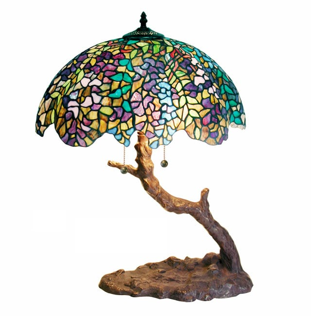 Lamparas Color Glass Led Table Lamp Hand Made Tiffany Desk: Tiffany Table Lamp Stained Glass Light Shade Tree Style