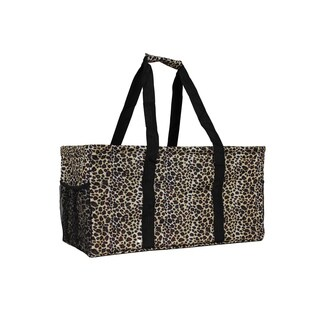 World Traveler Leopard Household Essential Collapsable Multi-purpose Tote Bag