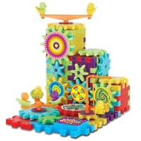 Gears! Gears! Piece Super Building Set 81-Piece Set: IQ Builder Interlocking Gears & Blocks Learning Toy