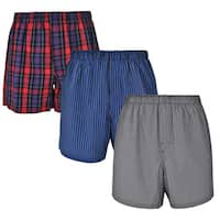 Reed Edward Classic Assorted ComfortFlex Waistband Underwear Boxer Shorts - 3 Pack