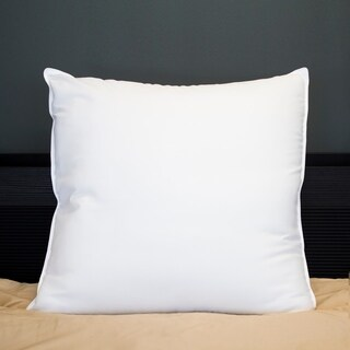 Amrapur Overseas Down Alternative 28-inch Euro Square Pillow - White